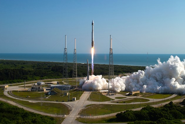 A United Launch Alliance Atlas V 401 rocket, using an RD-180 rocket engine in its first stage, lifts off from Cape Canaveral Air Force Station's Space Launch Complex 41 in Florida. Photo Credit: ULA