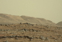 The hills beckon: the mesas and buttes in the foothills of Mount Sharp where Curiosity will soon be exploring. Photo Credit: NASA/JPL-Caltech