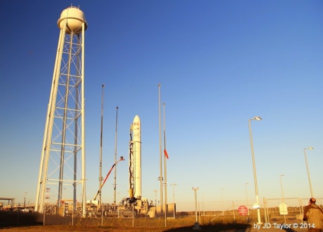 Orbital Sciences Corporation Antares rocket Orb-3 CRS-3 Commercial Resupply Services 3 NASA Wallops Flight Facility Mid-Atlantic Regional Spaceport Pad-0A Photo Credit JD Taylor SpaceFlight Insider.jpg