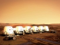 Artist's conception of the Mars One colony. Image Credit: Mars One / Brian Versteeg