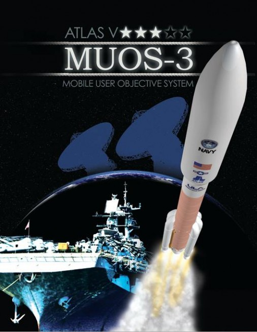 Mobile User Objective System 3 MUOS-3 United Launch Alliance Atlas V 551 Cape Canaveral Air Force Station ULA image posted on SpaceFlight Insider