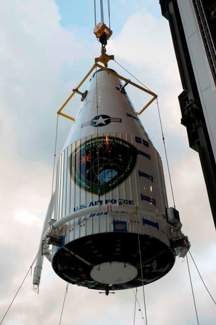 Atlas V 401 payload fairing GPS IIF8 satellite United Launch Alliance ULA photo posted on SpaceFlight Insider