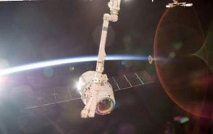 The CRS-4 spacecraft docks with the International Space Station. Photo Credit: NASA