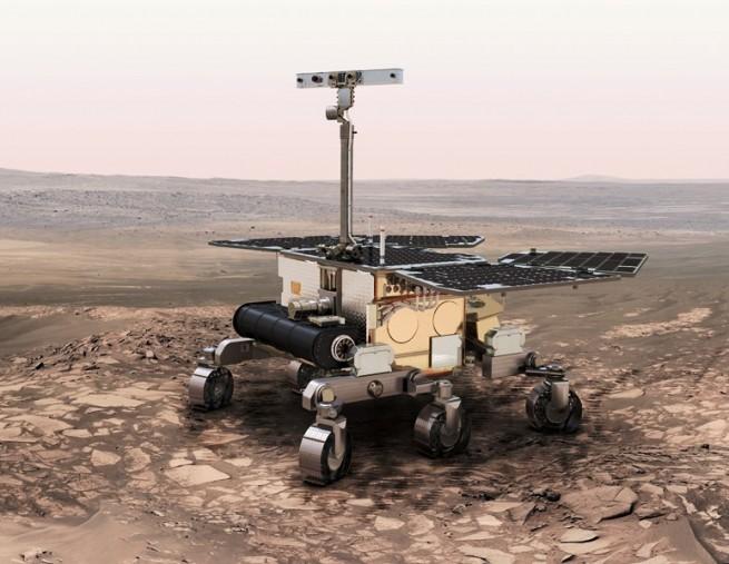 Artist's rendering of ExoMars rover.