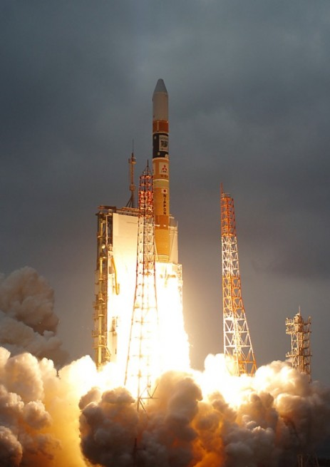 The Hayabusa 2 probe is currently scheduled to launch atop a Mitsubishi H IIA rocket from Tanegashima launch site on Nov. 30. Photo Credit: Mitsubishi Ltd.