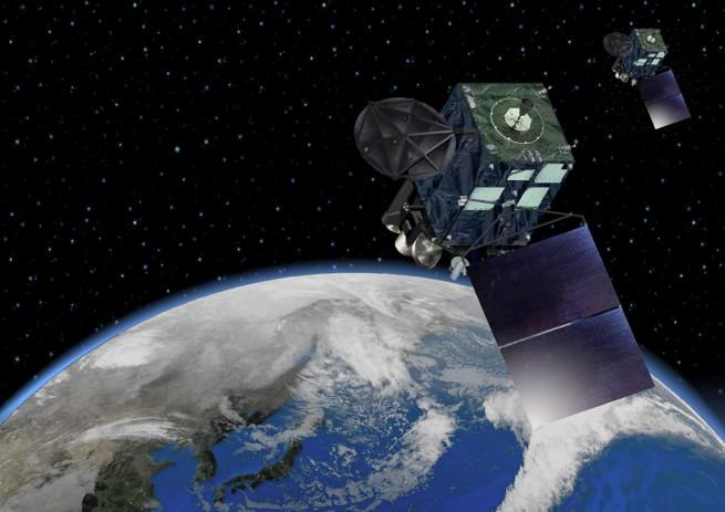 Artist's rendition of the Himawari-8 satellite with solar panels deployed. Image Credit: Japan Meteorological Agency (JMA)