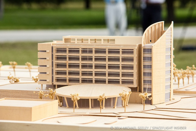 Model of KSC's new energy-efficient headquarters. Photo Credit: Mike Seeley/Spaceflight Insider