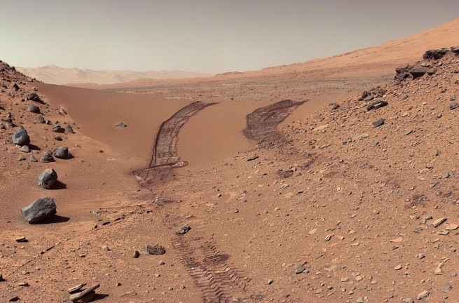 The Martian surface as seen by the Curiosity rover. Will this landscape be the home of a thriving colony...or a graveyard for a failed and foolhardy expedition? Photo Credit: NASA