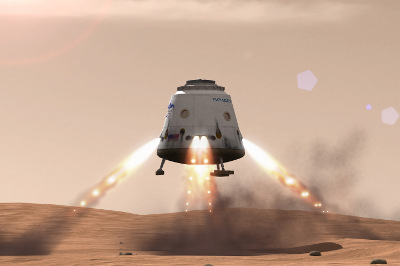 mars landing spacex - photo #20