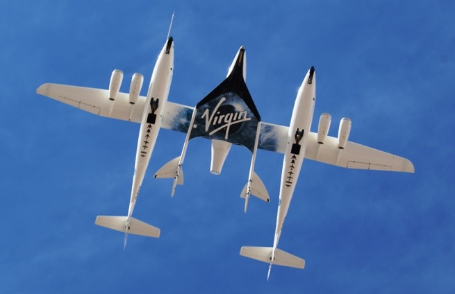 The WhiteKnight Two carrier aircraft touched down safely. Photo Credit: Virgin Galactic