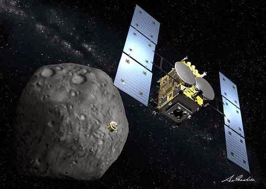 An artist's concept of Hayabusa 2 spacecraft. Image Credit: JAXA