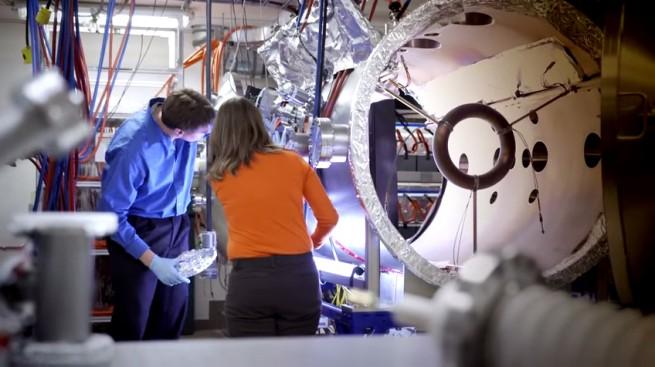 Engineers working on a fusion reactor prototype at Lockheed Martin. Photo Credit: Lockheed Martin (via YouTube)