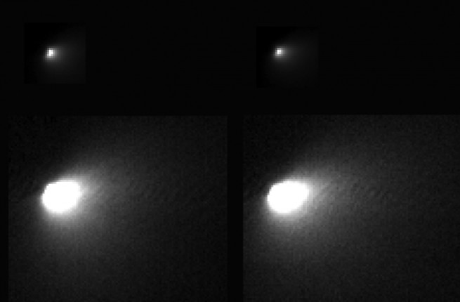 Comet Siding Spring's nucleus as seen by NASA's Mars Reconnaissance Orbiter. Image Credit: NASA