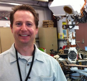 Author Jay Gallentine with Mars Science Laboratory rover Curiosity image courtesy of the author