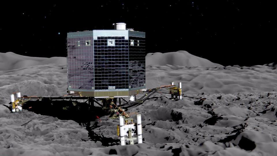 67P/Churyumov-Gerasimenko Rosetta Philae lander European Space Agency ESA image posted on SpaceFlight Insider