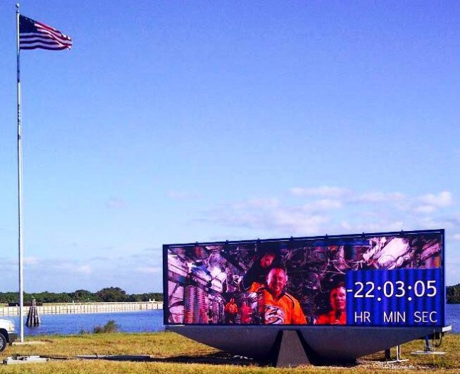 KSC Kennedy Space Center new Countdown Clock Turn Basin press site NASA image posted on SpaceFlight Insider