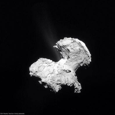 Comet 67PChuryumov Gerasimenko ESA image posted on SpaceFlight Insider