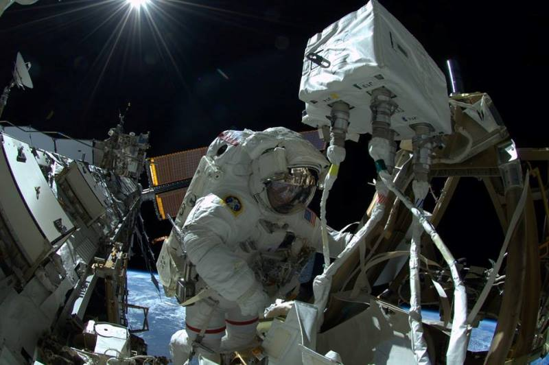 ISS spacewalk International Space Station astronaut EVA extra vehicular activity NASA photo posted on SpaceFlight Insider