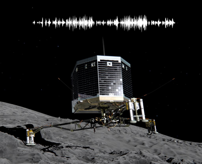 If a robot lands on a comet and no one is around, does it make a sound? Image Credit: ESA posted on SpaceFlight Insider