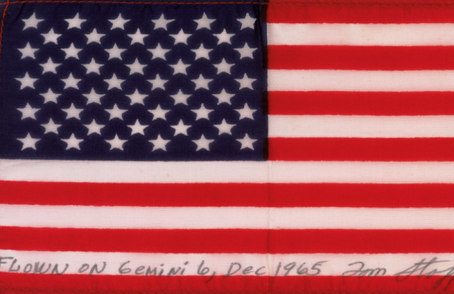 Flag flown on Gemini 6 photo credit General Thomas Stafford posted on SpaceFlight Insider - Copy