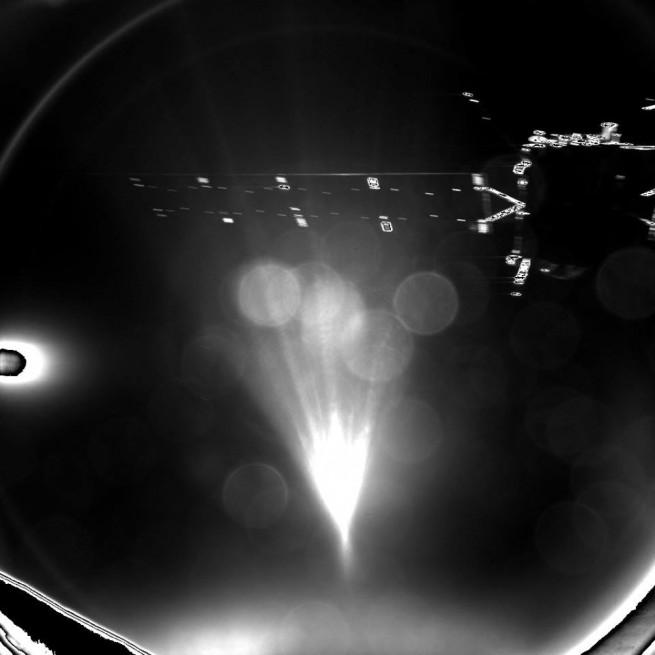 Philae's parting image of Rosetta, taken shortly after separation. Credit: ESA/Rosetta/Philae/CIVA