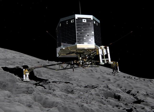 rosetta_philae_lander comet landing ESA image posted on SpaceFlight Insider