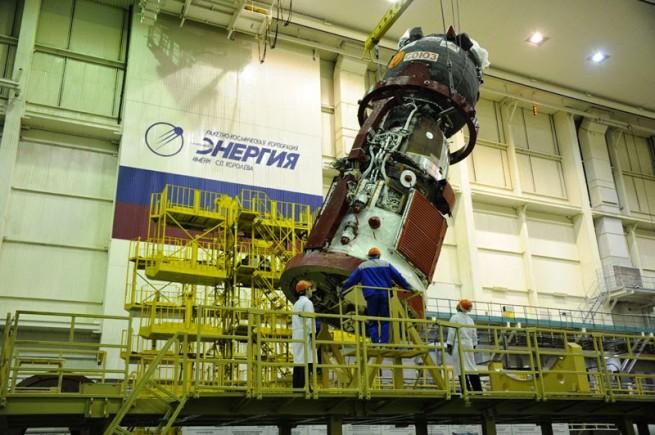 Soyuz TMA-15M spacecraft. Photo Credit: Roscosmos on Spaceflight Insider
