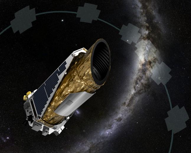 Artist rendition of the Kepler Space Telescope.