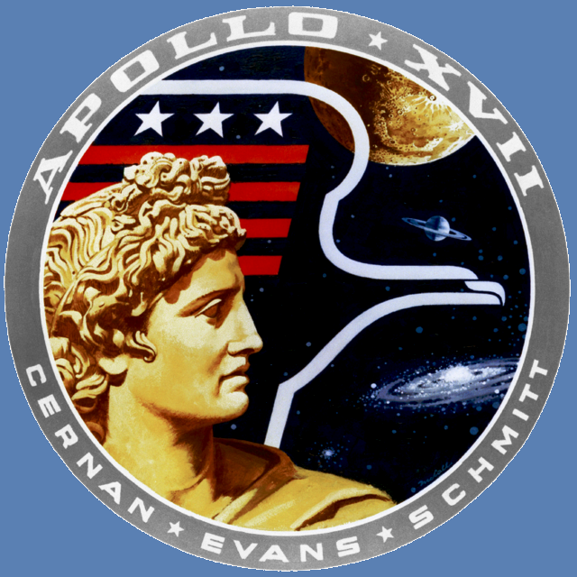 Apollo 17 mission patch logo NASA image posted on SpaceFlight Insider