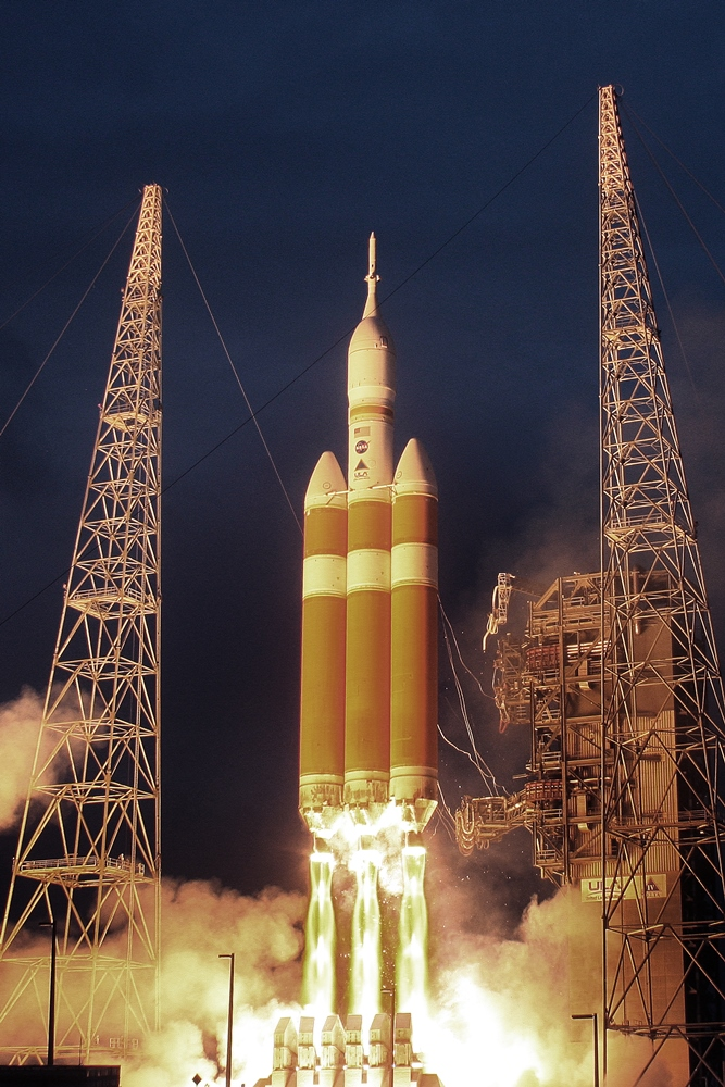 A NASA Orion EFT-1 Exploration Flight Test 1 ULA United Launch Alliance Delta IV Heavy Cape Canaveral Air Force Station Space Launch Complex 37 photo credit Mike Howard SpaceFlight Insider - Copy