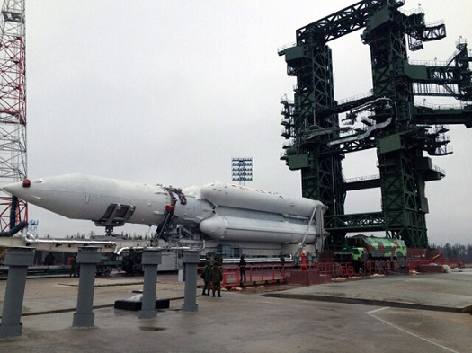 Angara 5 is Rolled Out in Mirny as seen on Spaceflight Insider