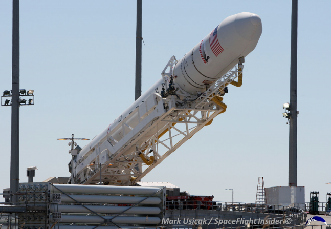Antares rocket Orbital Sciences Corporation Cygnus Commercial Resupply Services CRS photo credit Mark Usiack The SpaceFlight Group Insider
