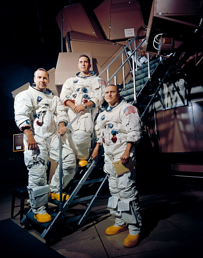 Apollo_8_Crewmembers Frank Borman Bill Anders Jim Lovell NASA image posted on SpaceFlight Insider