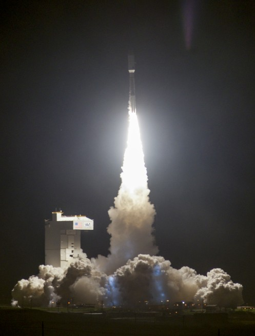 This was the third mission using the 541 configuration of the Atlas V and the first from Vandenberg Air Force Base. as seen on Spaceflight Insider
