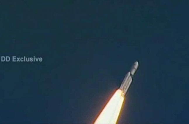 ISRO CARE Launch GSLV Mk III image credit DD News posted on SpaceFlight Insider