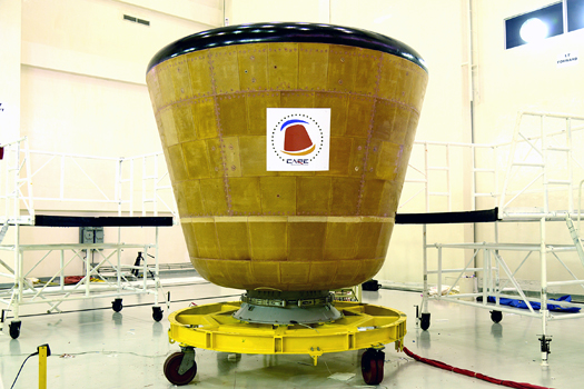 ISRO CARE spacecraft in the clean room Indian Space Research Organisation posted on SpaceFlight Insider
