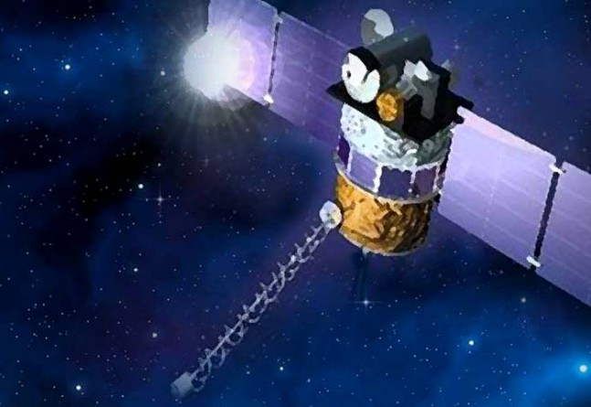 NASA DSCVR spacecraft in orbit above Earth NASA image posted on SpaceFlight Insider