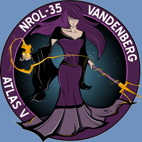NROL 35 mission patch logo USAF National Reconnaissance Office image posted on SpaceFlight Insider