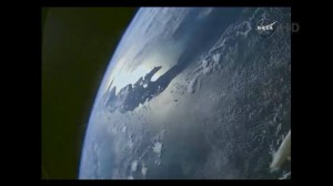 Earth photographed from the Orion spacecraft. Image Credit: NASA posted on SpaceFlight Insider
