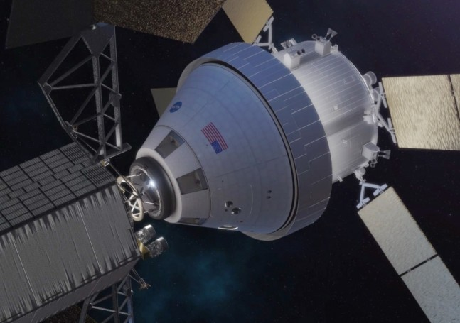 Orion spacecraft docking with ARV NASA image posted on SpaceFlight Insider