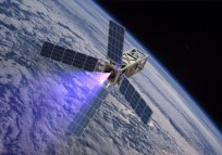 PATRIOT_plume CubeSat thruster firing University of Michigan photo posted on SpaceFlight Insider