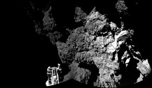 Philae lander touches down on the surface of Comet 67 P ESA image posted on SpaceFlight Insider