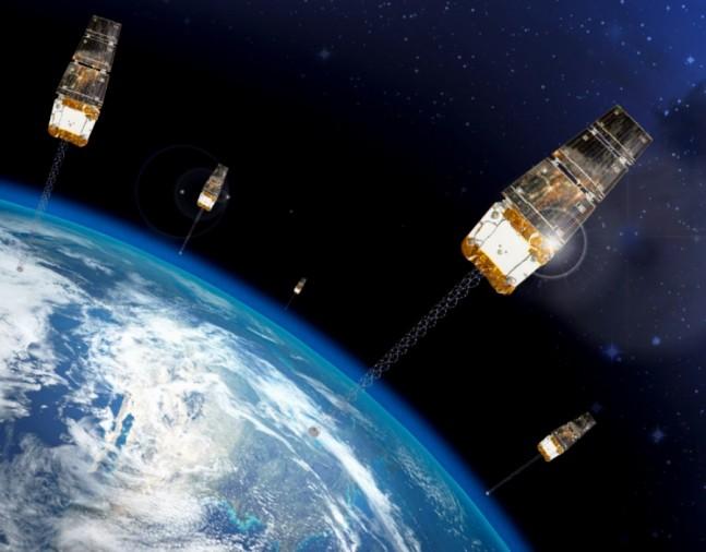 Rendering-of-Six-SNC-OG2-Satellites-in-low-Earth-orbit_20141218 posted on SpaceFlight Insider