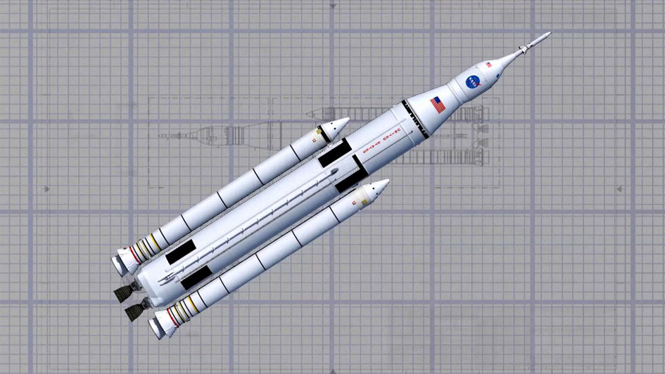 SLS Orion Space Launch System blueprint NASA image posted on SpaceFlight Insider