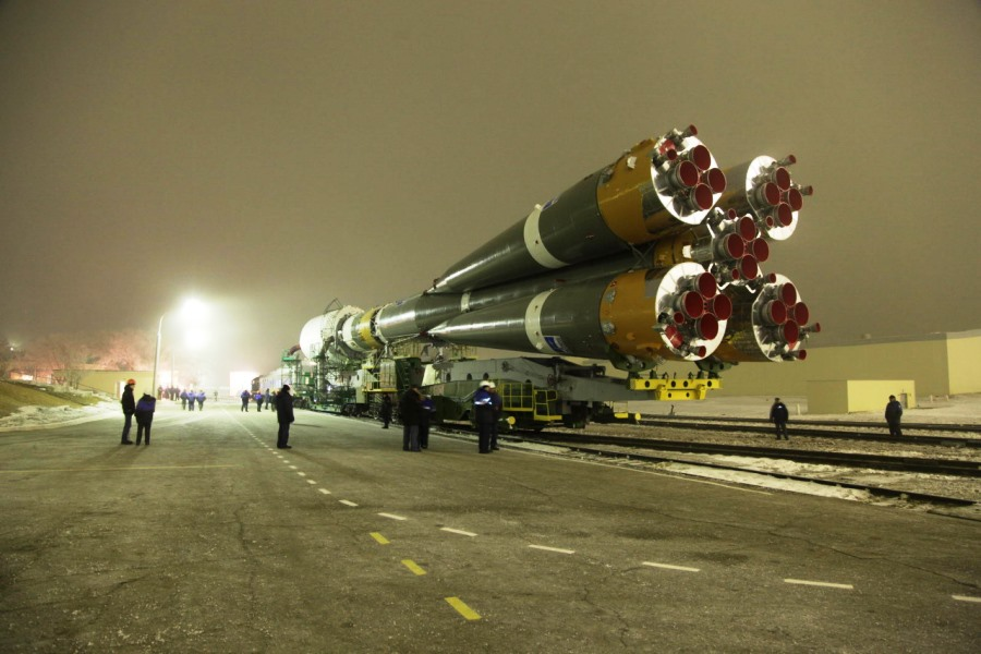 Soyuz-2 launch vehicle Resurs P No. 2 Yuzhny Space Center press service photo posted on SpaceFlight Insider