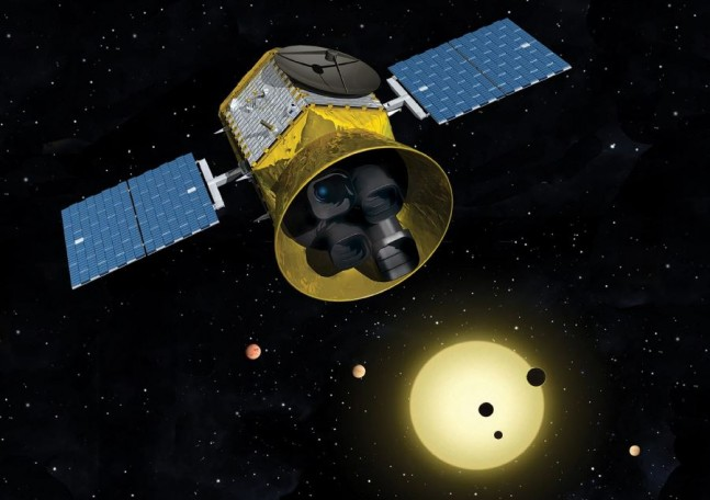 Transiting Exoplanet Survey Satellite NASA image posted on SpaceFlight Insider