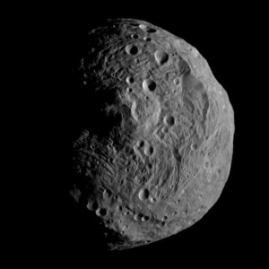 Dawn's first destination - the dwarf planet Vesta. Photo Credit: NASA/JPL-Caltech/UCLA/MPS/DLR/IDA  posted on SpaceFlight Insider
