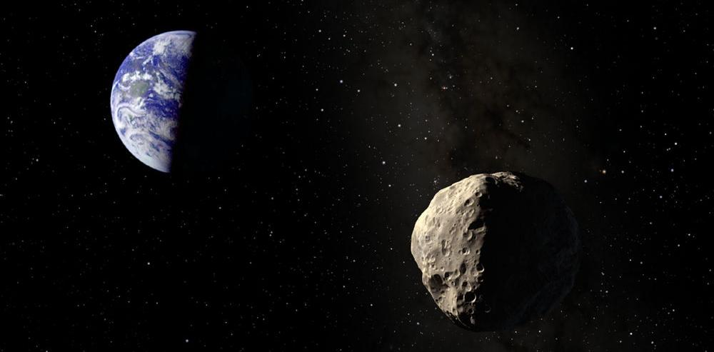Asteroid Apophis approaching Earth