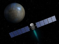 Artist rendition of the Dawn spacecraft approaching Ceres as seen on Spaceflight Insider