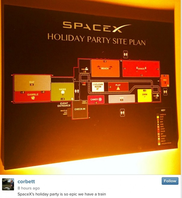 SpaceX Holiday Party Site Plan